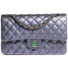 chanel quilted bag. chanel iridescent goatskin quilted medium flap purple ❤ liked on polyvore featuring bags, handbags, chanel bag