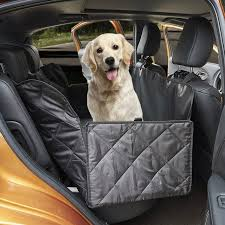 large size car rear seat travel hammock for dogs nonslip pet waterproof back seat cover for