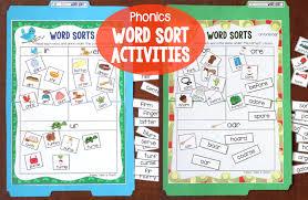Activities Word Phonics Based Word Sorting Activities Make Take Teach