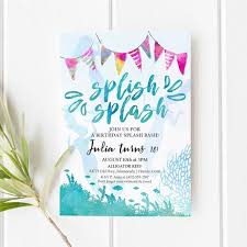 Mermaid Pool Party Invitation Mermaid Event Invite Template Editable Birthday Invitation Pool Or Beach Event Party Instant Download