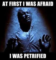 Han Solo meme At First I was afraid I was petrified | Geekery At ... via Relatably.com