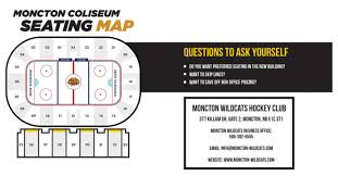 Moncton Downtown Centre Seating Chart Seating Map Moncton Wildcats