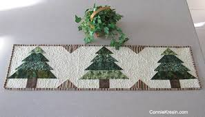 tree runner tutorial free pattern designed by connie kresin campbell from connie kresin