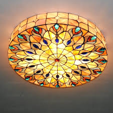stained glass ceiling light. Stained Glass Ceiling Light E