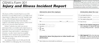 Accident Report Form Template Workplace Incident For Child Care