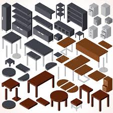 isometric office furniture vector collection. Download Isometric Office Furniture. Vector Collection Stock - Illustration Of Reception, Custom: Furniture Dreamstime.com