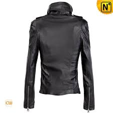 black leather motorcycle jackets for women fashion zipper decorative epaulets