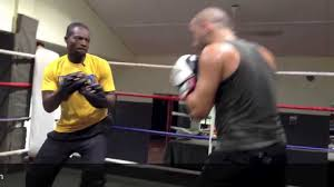 boxing workout with coach martey bridge boxing fitness gym
