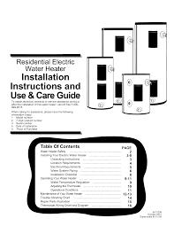 Temperature Maintenance Chart Us Craftmaster Es2h40hd045v User Manual Water Heater Manuals