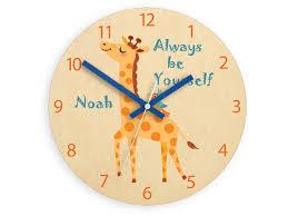 kids wall clock giraffe with