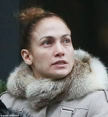 her true face jennifer lopez was spotted on friday without a s of make