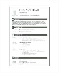 One Page Resume Format Two Page Resume Template 2 Page Resume
