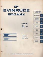 evinrude 55 hp outboard 1969 evinrude outboard motor service triumph 55 hp manual p n 4597 935