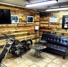 man cave garage. Simple Man Great Example Of Pallet Wood On WallsI Like The Idea Doing Corner  This Each Side Throughout Man Cave Garage