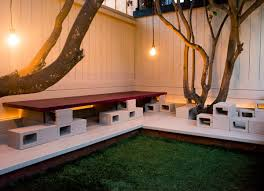 cinderblock furniture. Cinder Block Outdoor Seating Cinderblock Furniture