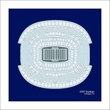 Cowboys Stadium Chart At T Stadium Dallas Cowboys Stadium Seating Art Print Football Gift Sdalf1616
