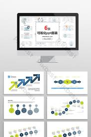 Step Chart In Powerpoint Blue Green Process Business Step Chart Ppt Element