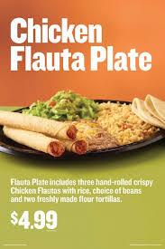 en flauta plate taco cabana menu menu restaurant plates mexican food recipes