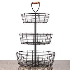 Amazon.com: Giftburg 3 Tier Wrought Iron Display Wire Basket, 25.5 .