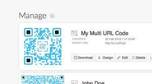 Multi-URL Codes, link to several websites in one QR Code