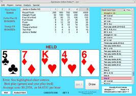 Free Video Poker Strategy Charts Optimum Video Poker Software Windows Mac Version