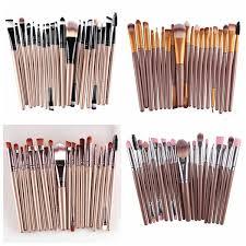 cosmetic brush set. maange 20 pcs professional makeup brush set cosmetic synthetic hair brushes kit c
