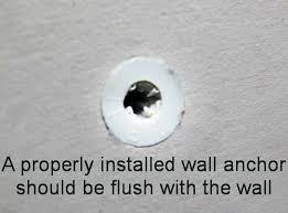 repair a loose wall anchor hole