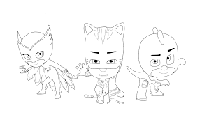 Coloring Pages Coloring Pagesr Pj Masks Extraordinary Image