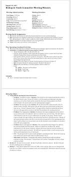 Examples Of Minutes Taken At A Meeting How To Record Meeting Minutes A Resource For Clerks