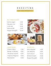 Sample Breakfast Menu Template Gorgeous Customize 48 Breakfast Menu Templates Online Canva