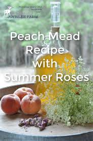 for this mead recipe you ll need fresh ripe peaches honey elder flowers and rose buds orange juice or g juice are added to feed the yeast