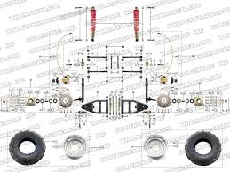 roketa atv exercise fitness dune buggies scooter gokart front wheel assembly 5