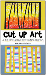 cut up art a creative twist on painting that uses several art ums and provides