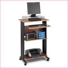 laptop computer workstation desk with printer shelf narrow desks for small spaces mobile corner home uk tables on wheels