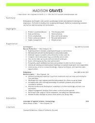 Esthetician Resume Skills