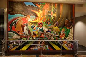 denver international airport murals. in peace and harmony with nature denver international airport murals