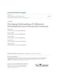 PDF) Developing Understandings of Collaborative Partnerships Between  University and Community