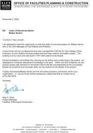 recommendation letters matias santini paul roberts