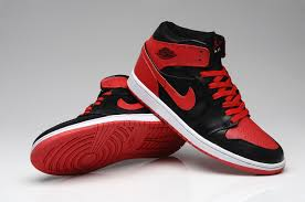 nike shoes red and black. 2015 air jordan 1 mens space leather non-slip soles red black nike high shoes nike and s