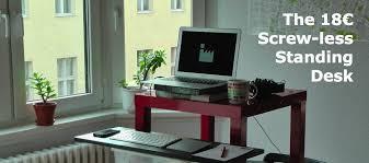 diy standing desk conversion. Exellent Desk The 18 Euro Screwless Standing Desk In Diy Standing Desk Conversion S