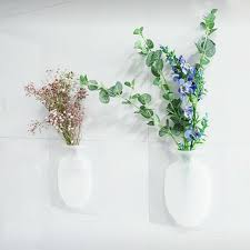 Office Flower Magic Silicone Vase Diy Sticky Flower Wall Hanging Vase Home Office Decor