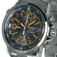 seiko solar chrono alarm stainless steel bracelet ssc077p1