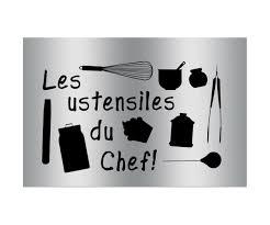 Daftar Harga Plaque Sticker Gourmand Protection Cuisine Du Chef A
