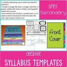 Creative Syllabus Templates Middle School Syllabus