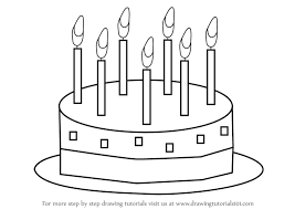 Small Picture Learn How to Draw Birthday Cake for Kids Cakes Step by Step