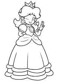Small Picture Free princess peach coloring pages for kids ColoringStar