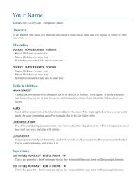 Resume Templates High School Free How To Do A Job Elegant First