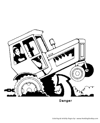 Small Picture Tractor Safety Coloring Pages Printable Tractor Tipping Danger