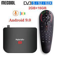 Mecool M8S PLUS S2 Hybridtv Kotak Android9.0 DVB S2 Satelit TV Box Amlogic  S905X2 2GB 16GB 1080p 4K 60fps M8S PLUS DVB Combo Box|Set-top Box