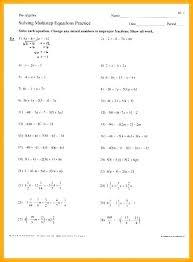 easy algebra worksheets with answers simple worksheet